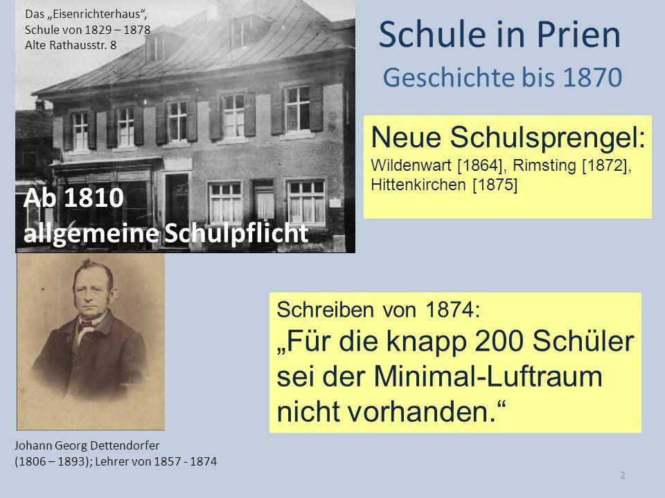 Schule in Prien Geschichte bis 1870