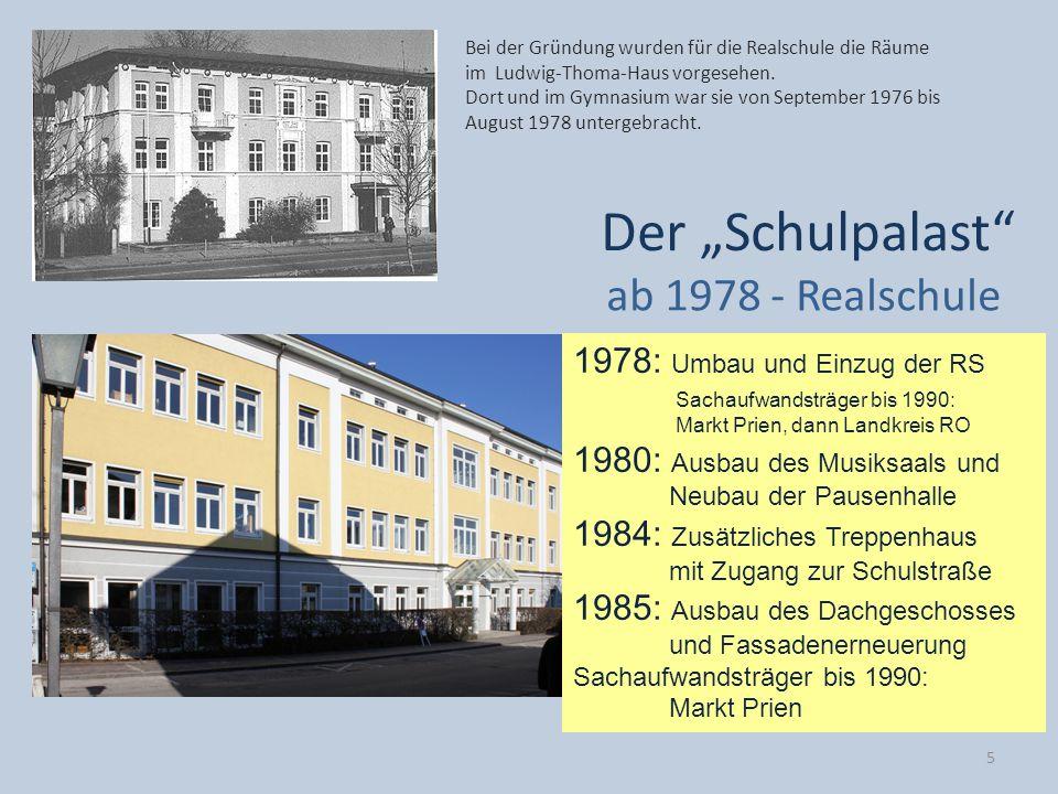 """Der """"Schulpalast ab 1978 - Realschule 1978: Umbau und Einzug der RS"""