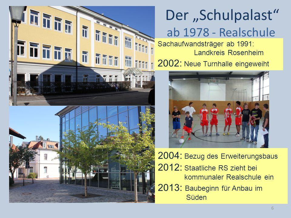 """Der """"Schulpalast ab 1978 - Realschule 2002: Neue Turnhalle eingeweiht"""