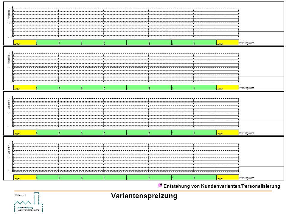 Variantenspreizung Entstehung von Kundenvarianten/Personalisierung 1