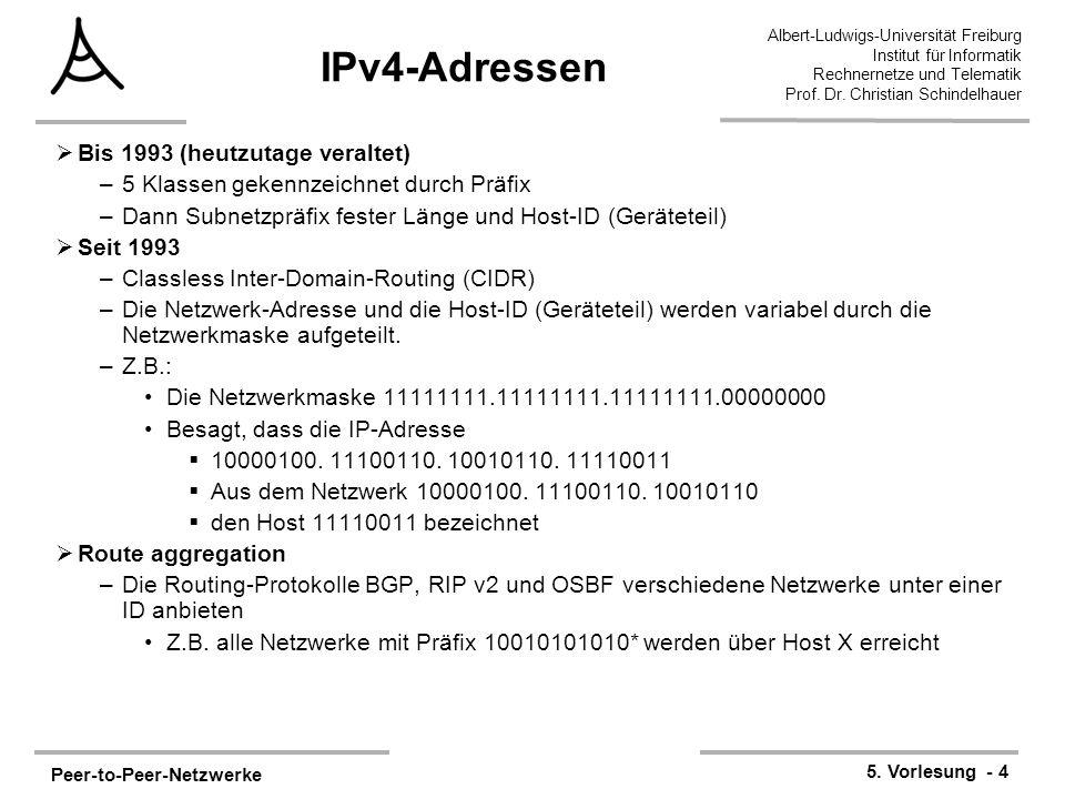 IPv4-Adressen Bis 1993 (heutzutage veraltet)