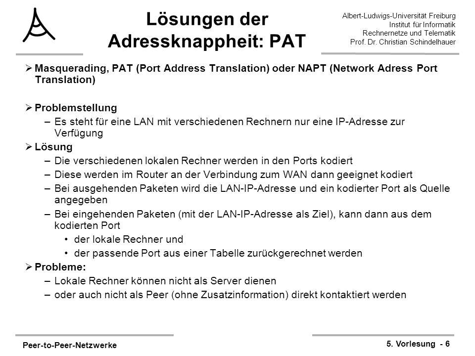 Lösungen der Adressknappheit: PAT