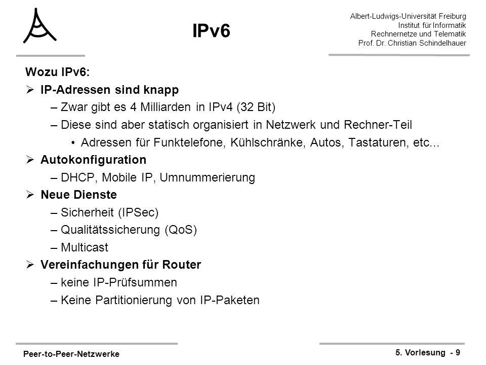 IPv6 Wozu IPv6: IP-Adressen sind knapp