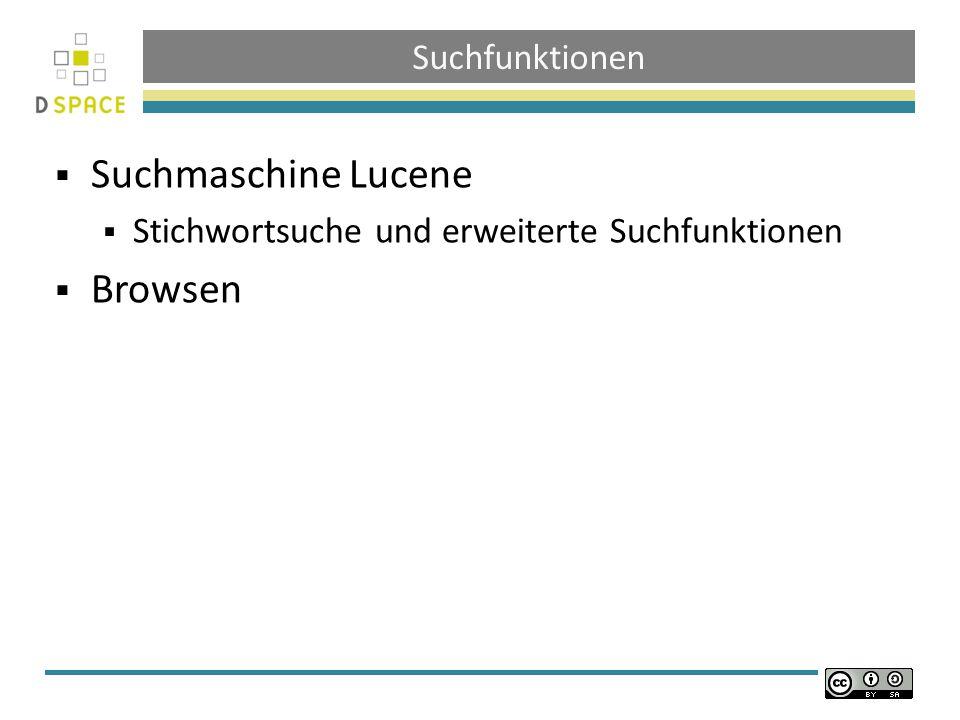 Suchmaschine Lucene Browsen Suchfunktionen