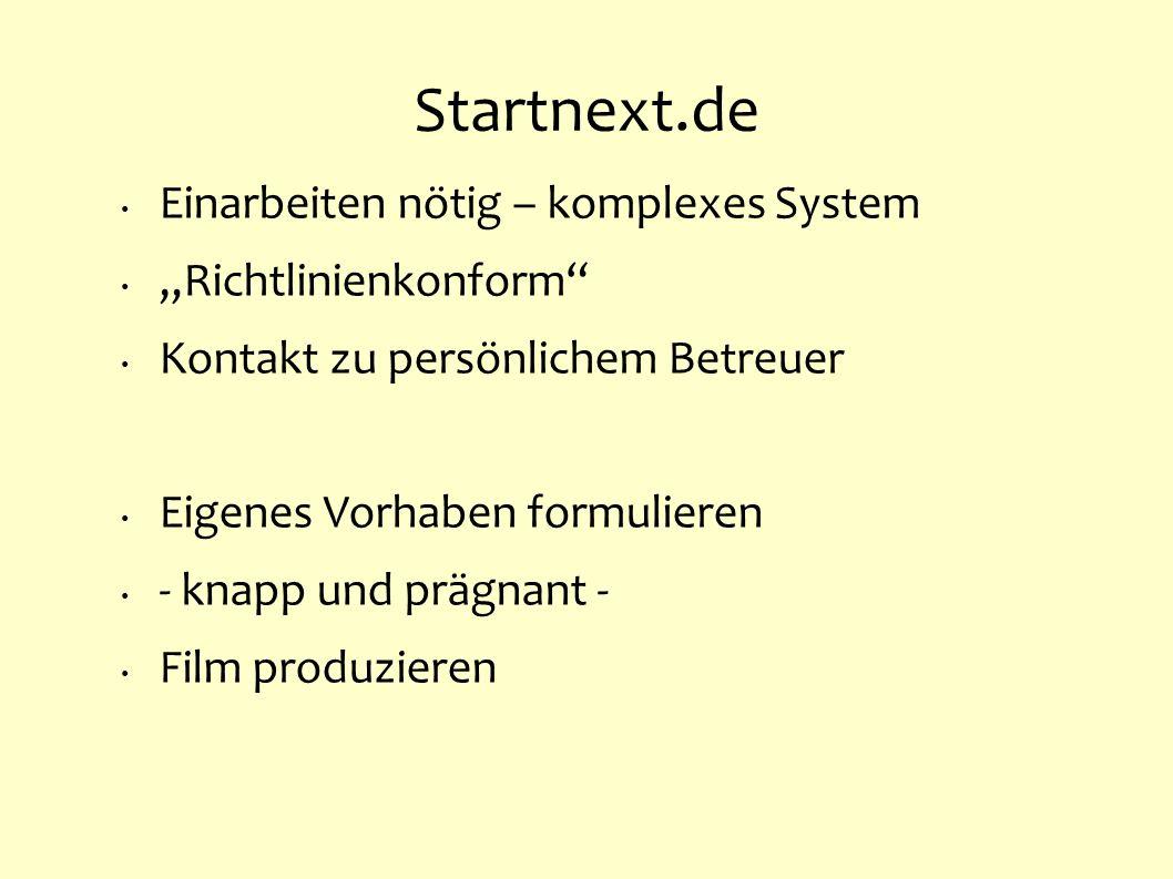 """Startnext.de Einarbeiten nötig – komplexes System """"Richtlinienkonform"""