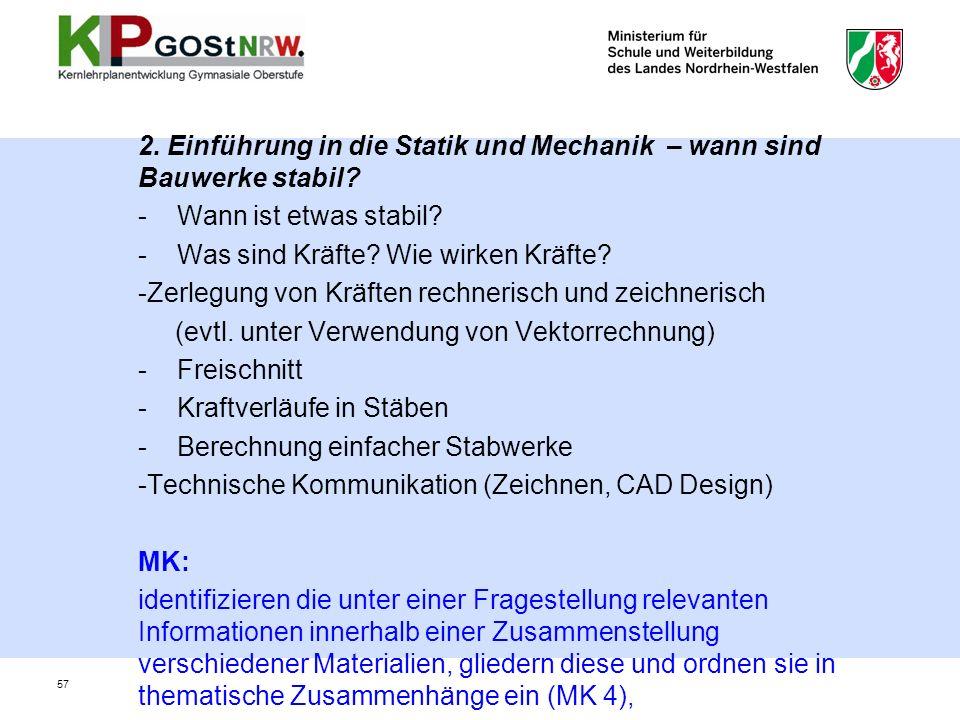 2. Einführung in die Statik und Mechanik – wann sind Bauwerke stabil