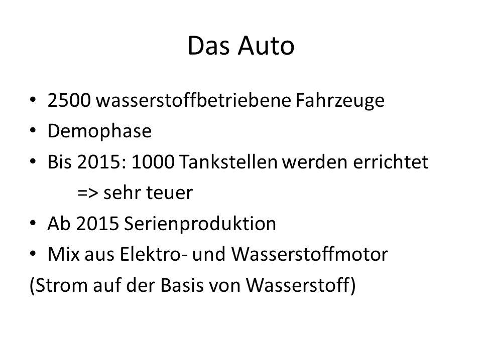 Das Auto 2500 wasserstoffbetriebene Fahrzeuge Demophase