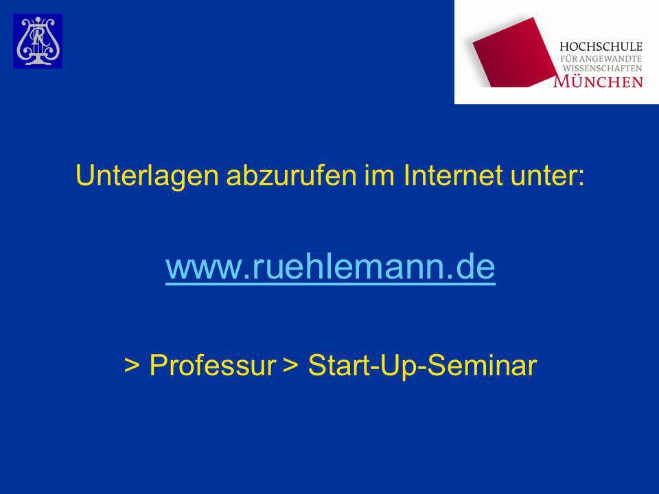 www.ruehlemann.de Unterlagen abzurufen im Internet unter: