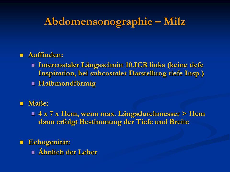 Abdomensonographie – Milz