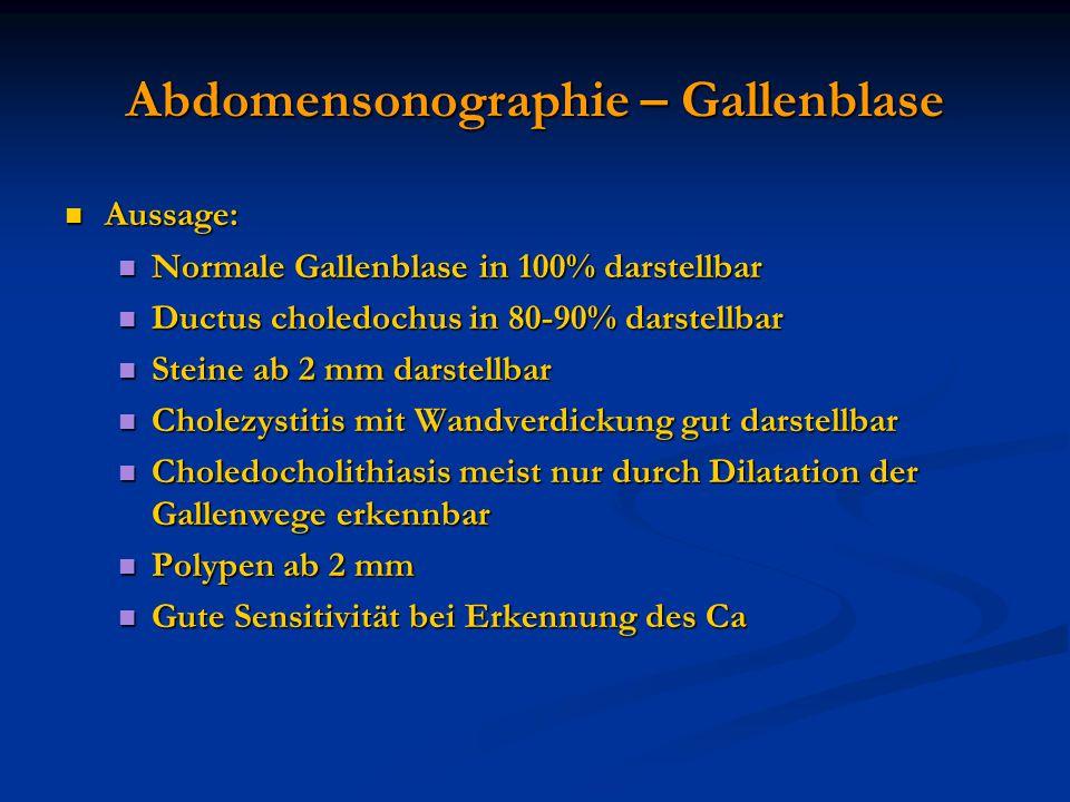 Abdomensonographie – Gallenblase