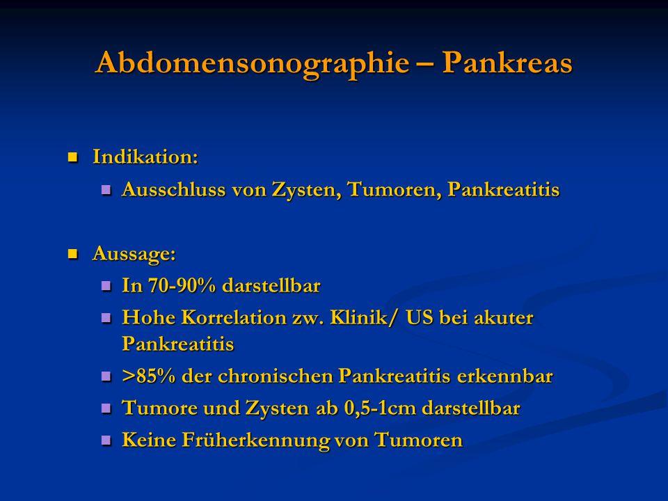 Abdomensonographie – Pankreas