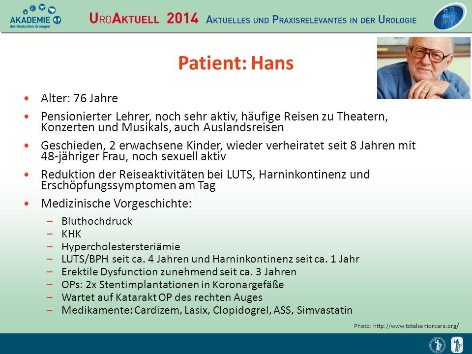 Patient: Hans Alter: 76 Jahre