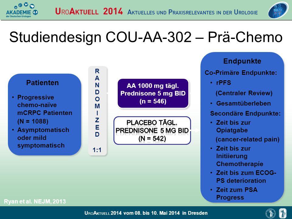 Studiendesign COU-AA-302 – Prä-Chemo
