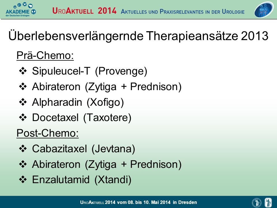Überlebensverlängernde Therapieansätze 2013