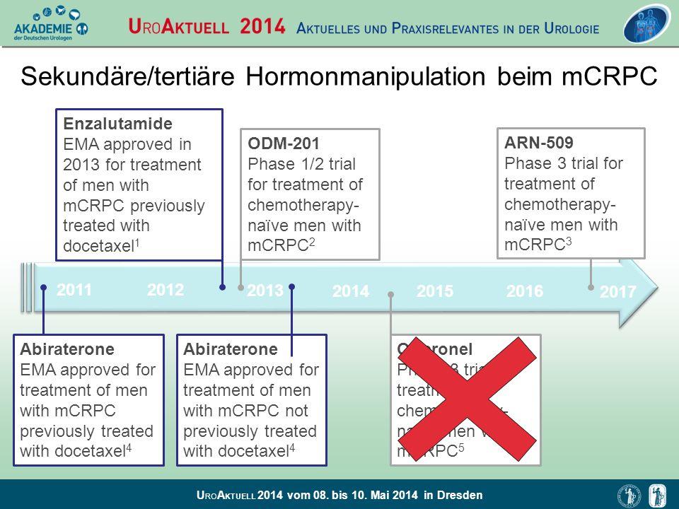 Sekundäre/tertiäre Hormonmanipulation beim mCRPC