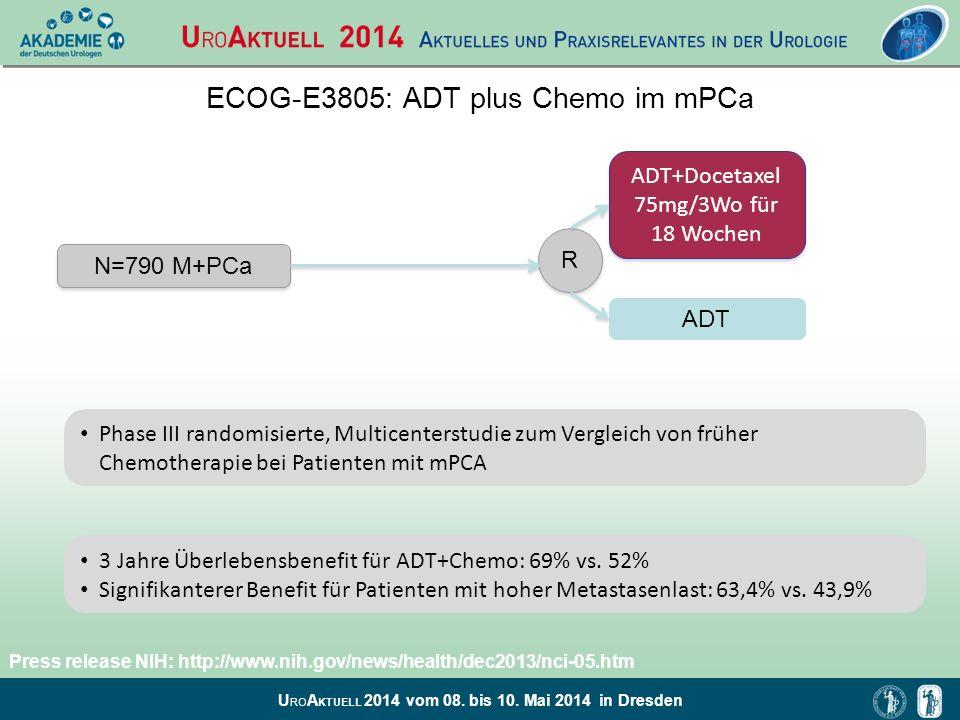 ECOG-E3805: ADT plus Chemo im mPCa