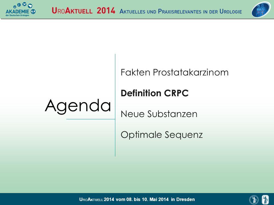 Agenda Fakten Prostatakarzinom Definition CRPC Neue Substanzen