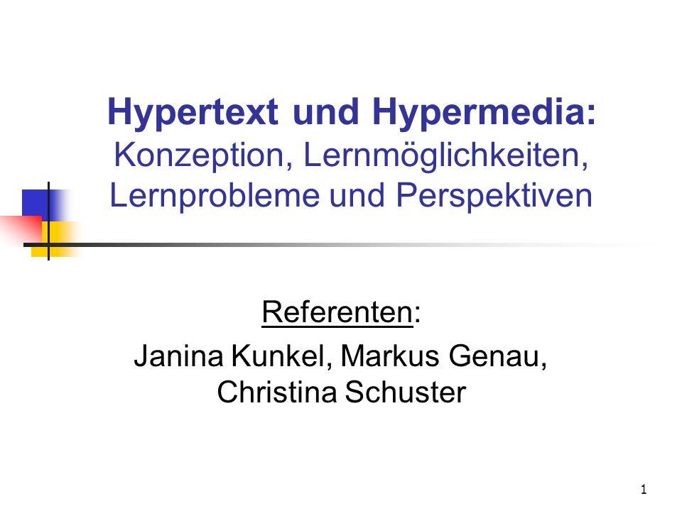Referenten: Janina Kunkel, Markus Genau, Christina Schuster