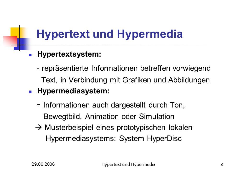 Hypertext und Hypermedia