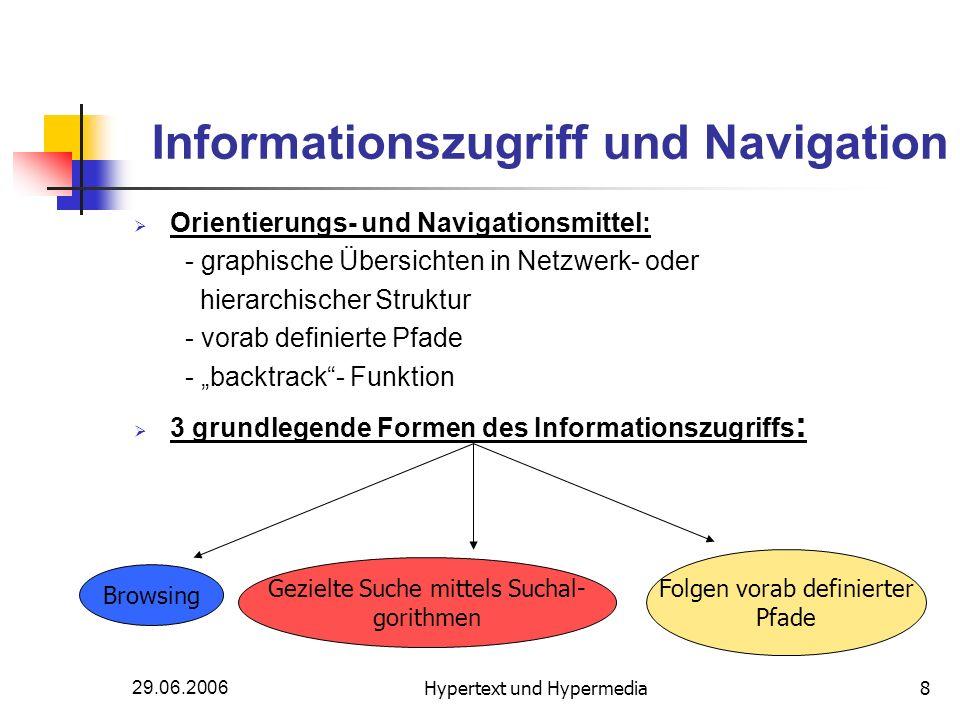 Informationszugriff und Navigation