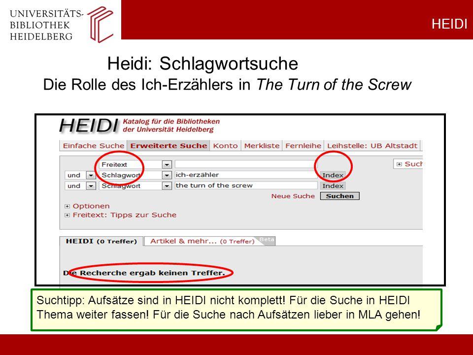 HEIDI Heidi: Schlagwortsuche Die Rolle des Ich-Erzählers in The Turn of the Screw.