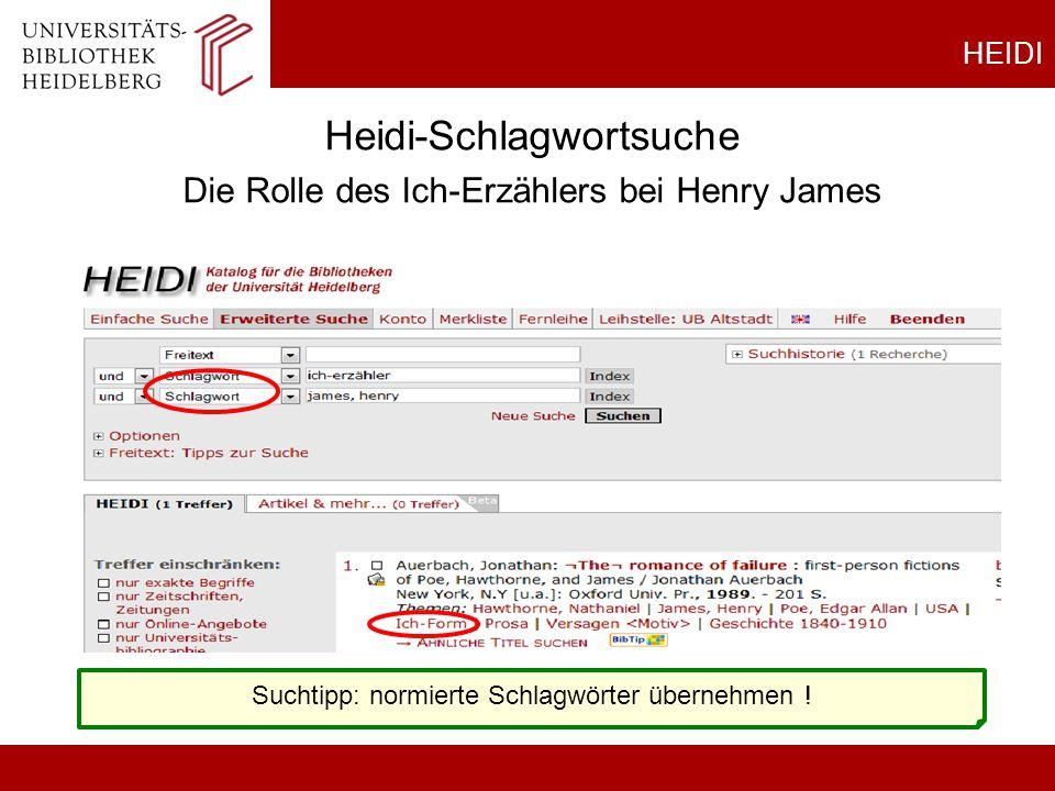 Heidi-Schlagwortsuche