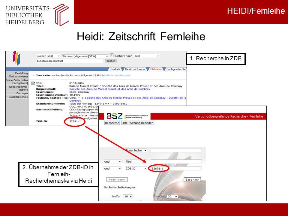 Heidi: Zeitschrift Fernleihe