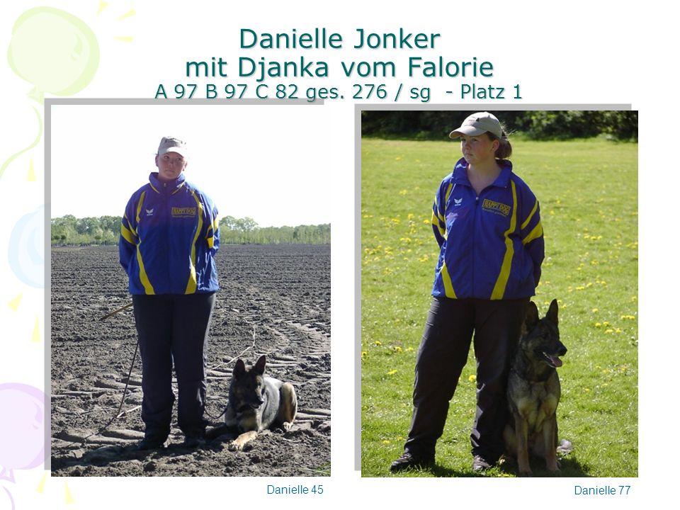 Danielle Jonker mit Djanka vom Falorie A 97 B 97 C 82 ges