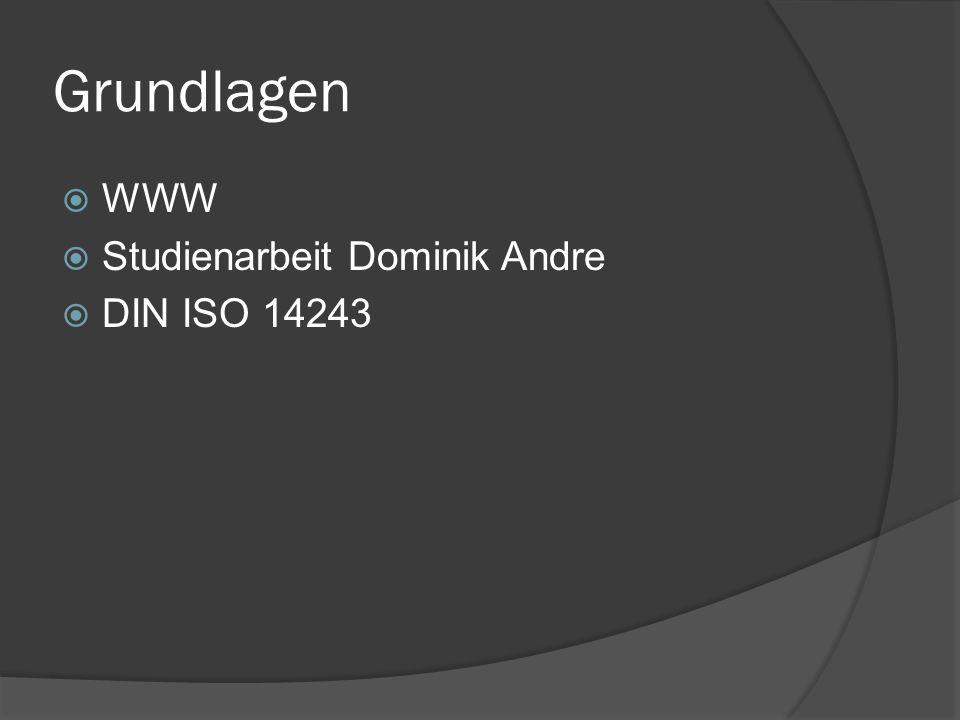 Grundlagen WWW Studienarbeit Dominik Andre DIN ISO 14243