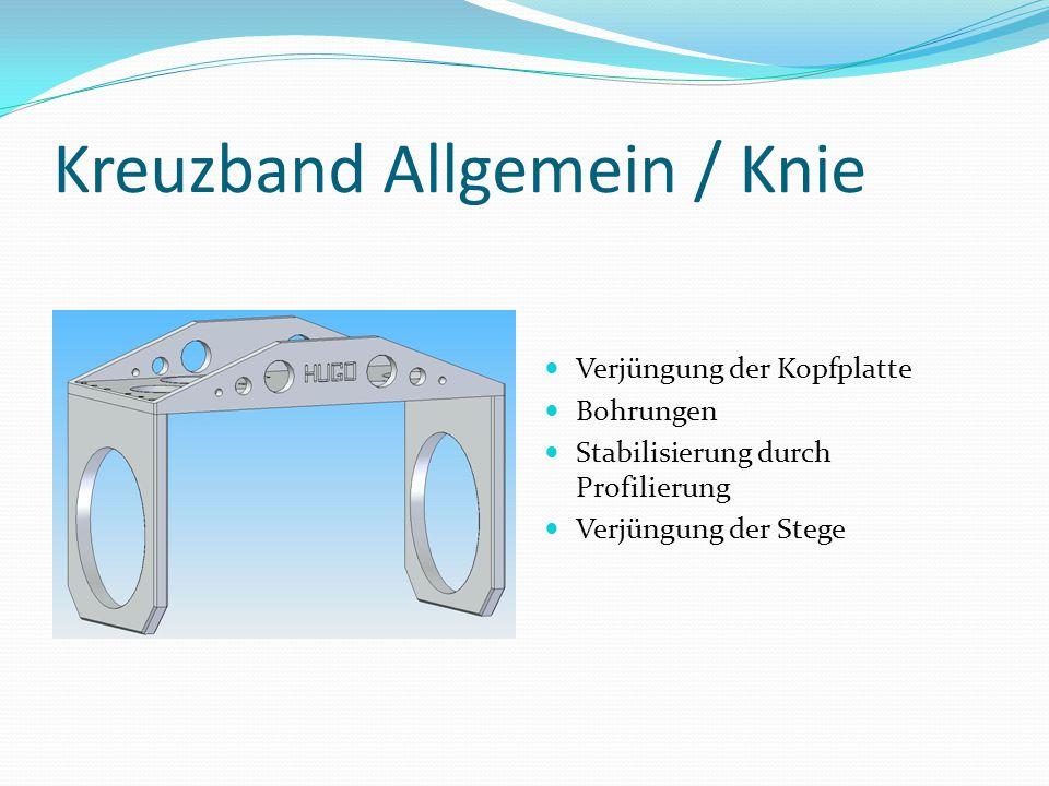 Kreuzband Allgemein / Knie