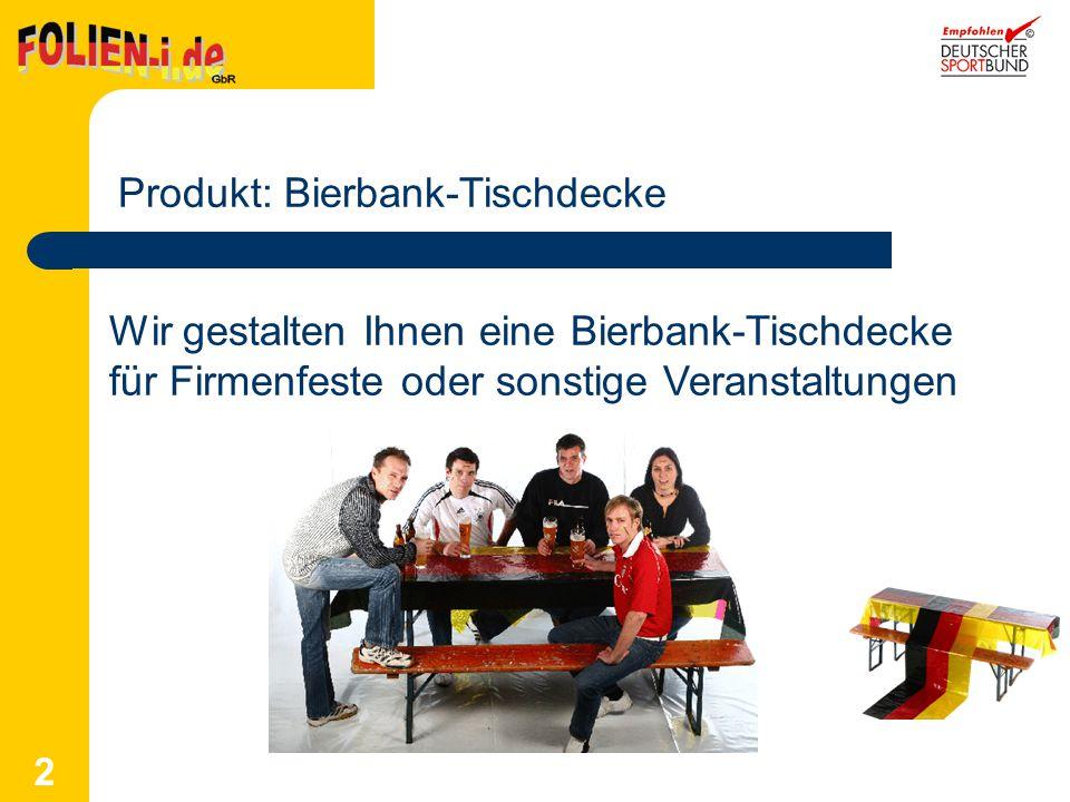 Produkt: Bierbank-Tischdecke
