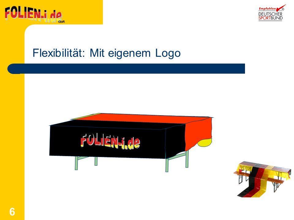 Flexibilität: Mit eigenem Logo