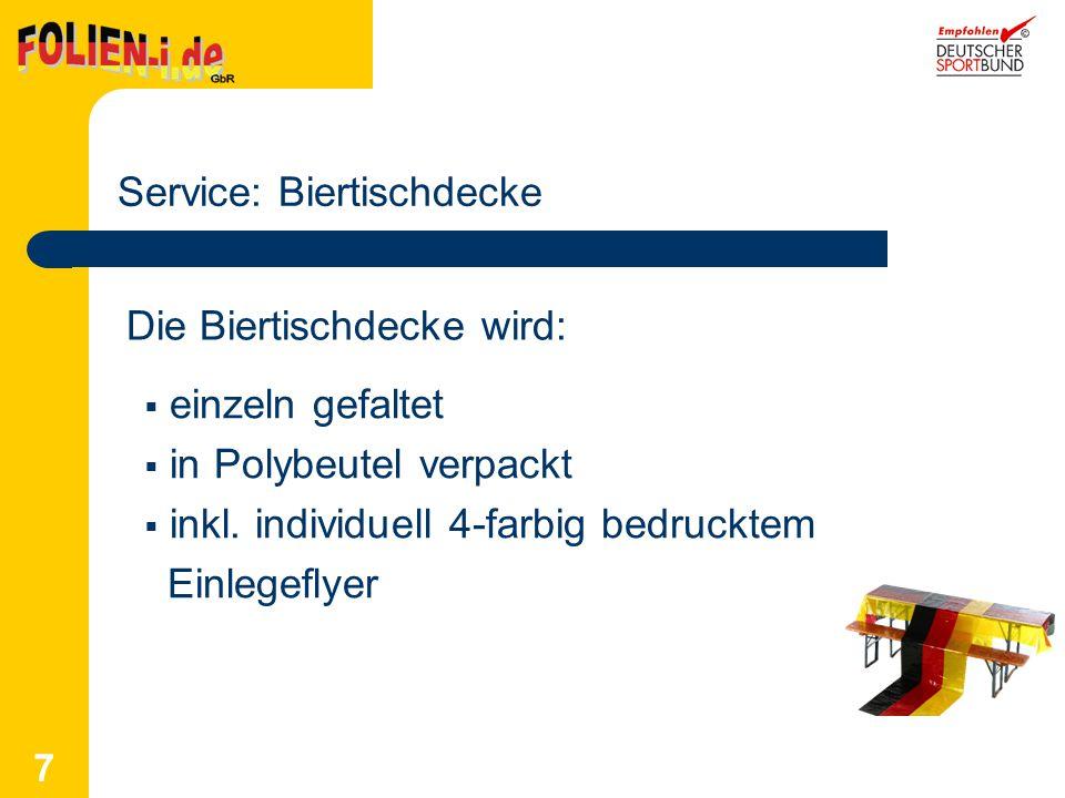 Service: Biertischdecke