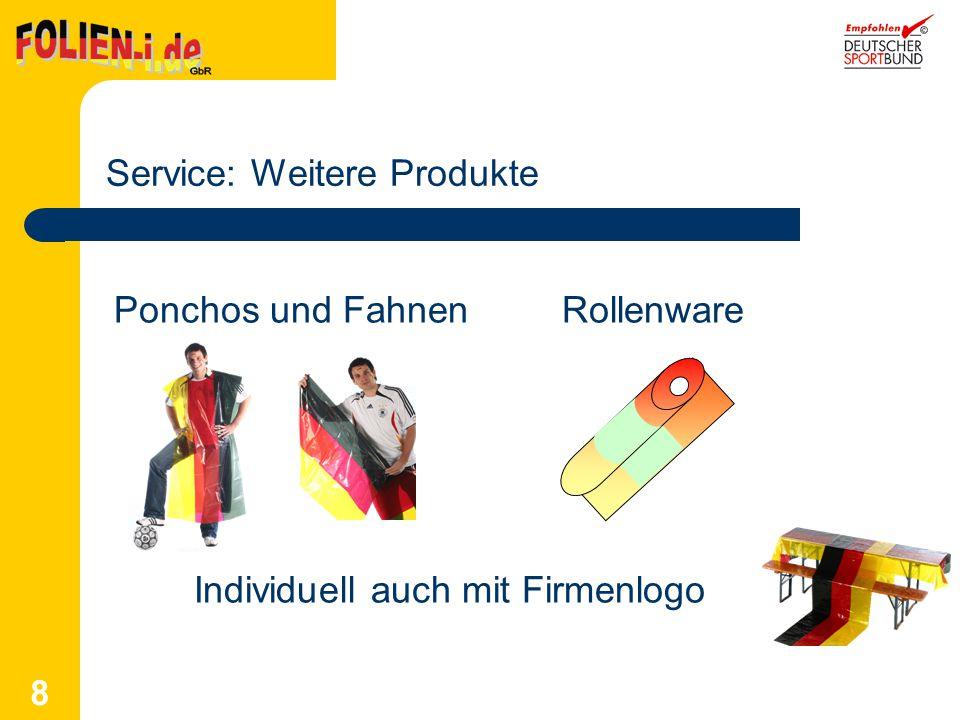 Service: Weitere Produkte