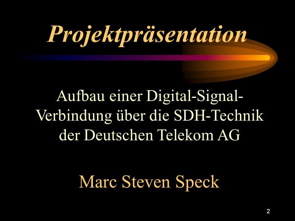 Projektpräsentation Marc Steven Speck