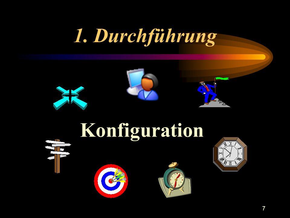 1. Durchführung Konfiguration