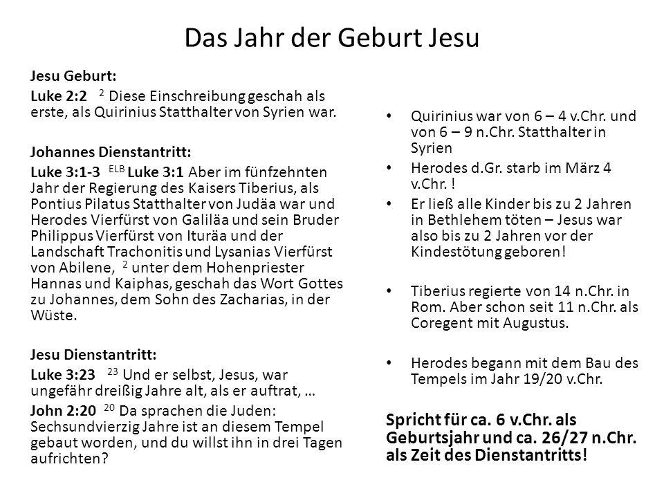 Das Jahr der Geburt Jesu
