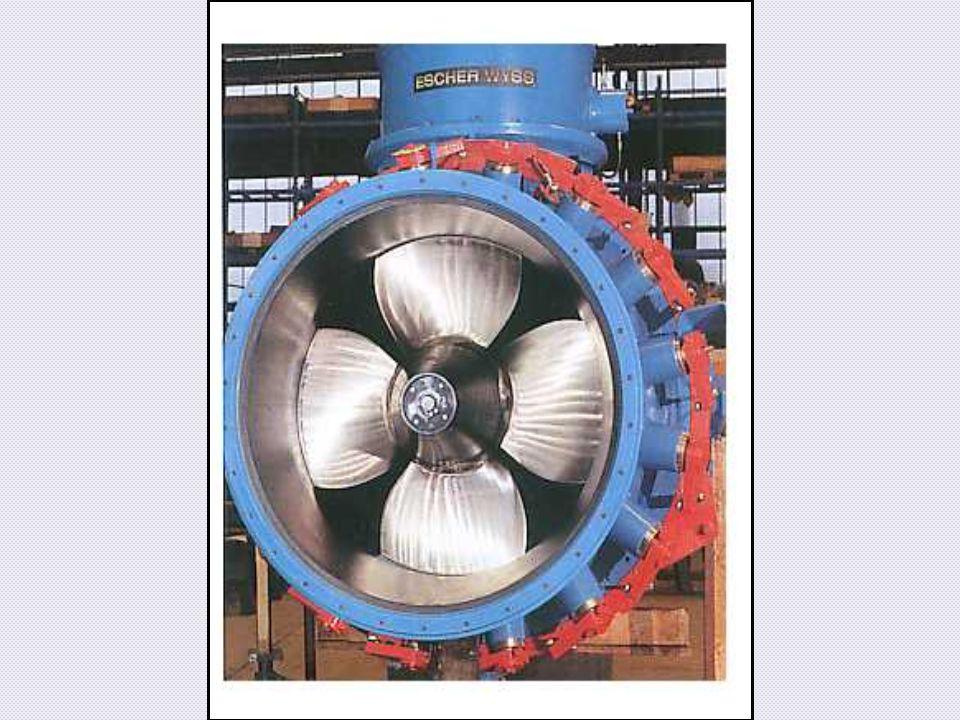 Dies ist eine Kaplan Rohrturbine von der Saugseite (Abfluss).