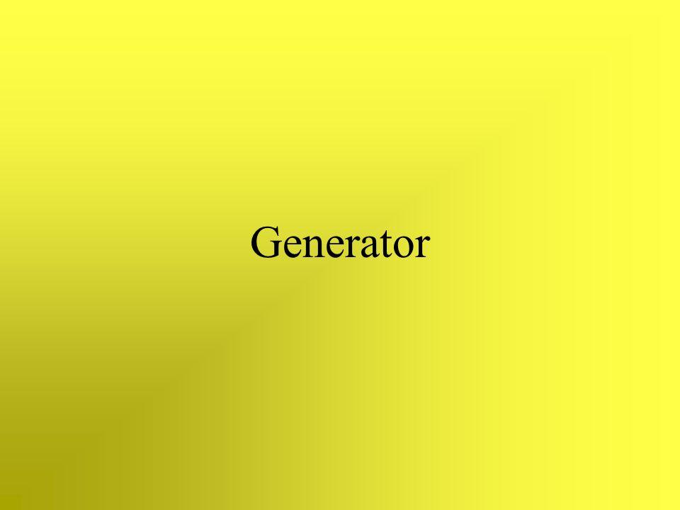 Generator Auch ein wichtiger Bestandteil eines Wasserkraftwerks ist der Generator.