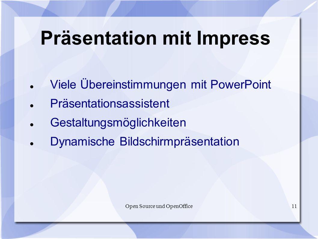 Präsentation mit Impress
