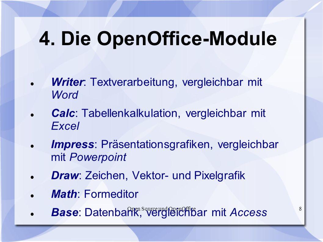 4. Die OpenOffice-Module