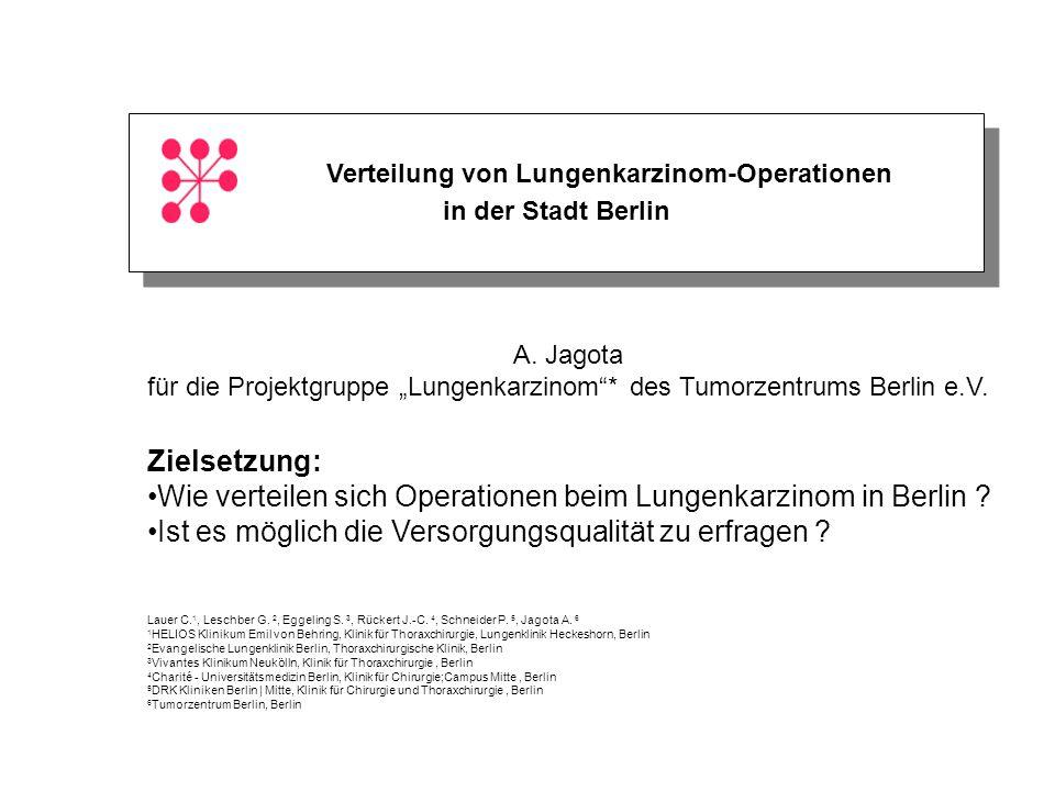 Verteilung von Lungenkarzinom-Operationen