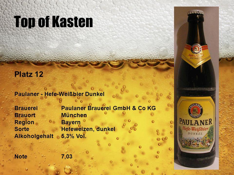 Top of Kasten Platz 12 Paulaner - Hefe-Weißbier Dunkel