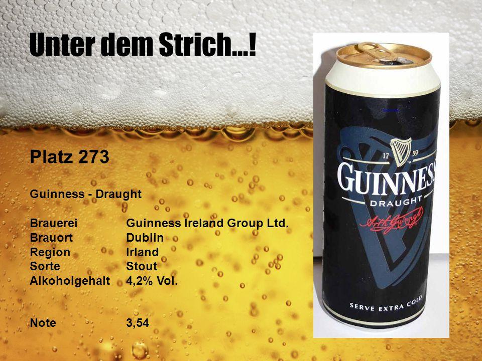 Unter dem Strich...! Platz 273 Guinness - Draught