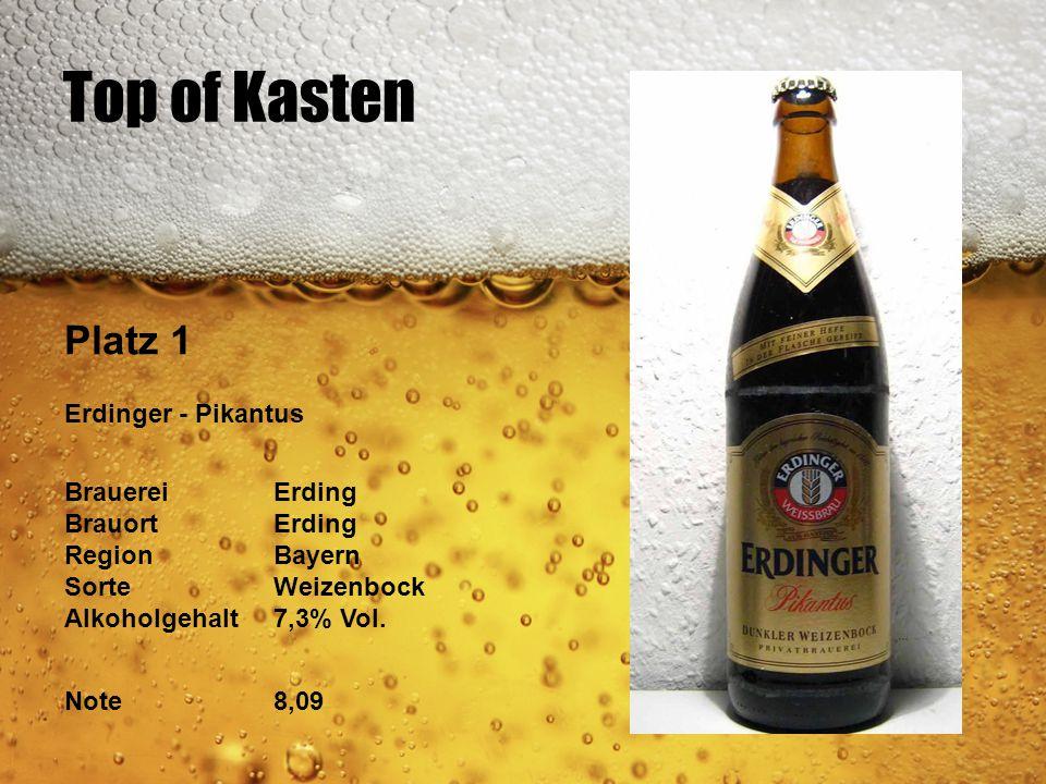 Top of Kasten Platz 1 Erdinger - Pikantus Brauerei Erding