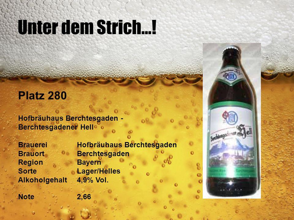 Unter dem Strich...! Platz 280 Hofbräuhaus Berchtesgaden -