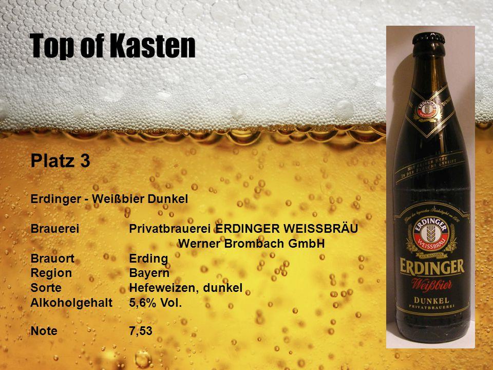 Top of Kasten Platz 3 Erdinger - Weißbier Dunkel