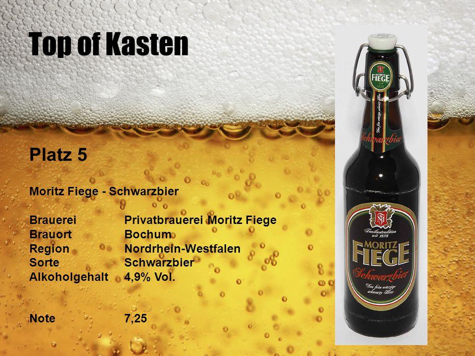 Top of Kasten Platz 5 Moritz Fiege - Schwarzbier