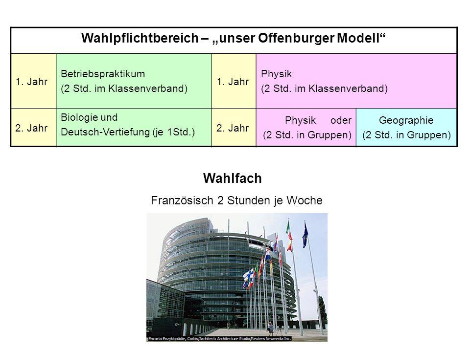 """Wahlpflichtbereich – """"unser Offenburger Modell"""