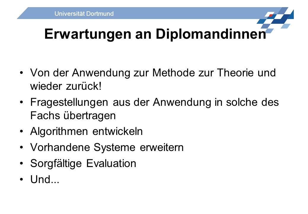 Erwartungen an Diplomandinnen